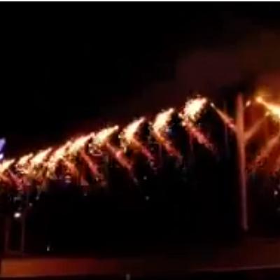 Tulesein Tartus 2009 aasta veebruaris. TASKU vabaajakeskus.